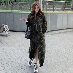 NYFS 2020 Nouvelle Automne Hiver hoodies femmes en vrac pull-over impression camouflage veste manteau à capuchon