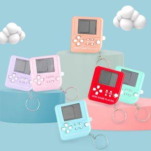 Mini Classic Game Machine Children Handheld Retro Nostalgic Mini Game Console With Keychain Tetris Video Games Classic Games Best Sale