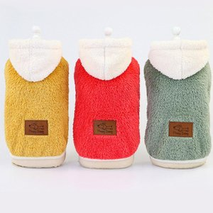 Super Warm Dog Winter Coat Sleeveless White Hooded Vest Jacket Red Yellow Green Fleece Cat Pet Clothes Outfit Apparel Chihuahua