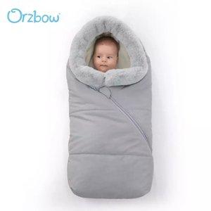 Orzbow hiver enveloppe nouveau-né bébé poussette sacs de couchage nouveau-né cocon cocoon fourrure collier de poussette de poussette pour enfants sac de baguette Q1222