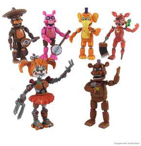 6pcs set Five Nights At Freddy Action Figure Toy FNAF Bonnie Foxy Freddy Fazbear Bear Figurines Toy Doll with Light T191129