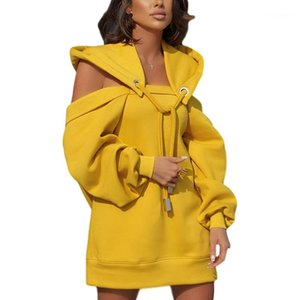Womens Hoodies Solid Color Loose Long Sleeve Women Designer Tops 11 Colors Option Hot Sell Clothing Patchwork Strapless Hooded