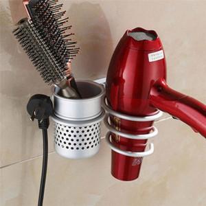 Support de rangement Sèche-cheveux en métal Peigne Support mural pour salle de bain plat spirale Support à accessoires cintre organisateur salle de bains # 4o17 m6qg #