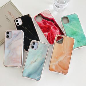 Iphone 08/07 / 7 p / 8p / x / 11 pro max ins sıcak moda trendi için iPhone 11 vaka IPhone 12 Pro vaka Vitray mermer ve dokulu cam telefon kılıfı