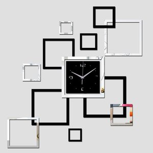 New Wall Clock Quartz Watch Diy Clocks 3d Stickers Modern Sticker Living Room Reloj De Pared Home Decor Saat Horloge Murale