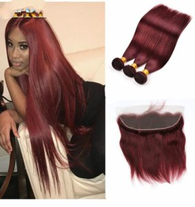 Supply lace frontal13 * 4 99J real hair wig block front lace straight face