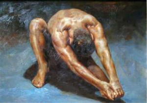 Portrait von nacktem Mann sexy Hauptdekor handgemaltes HD-Druck-Ölgemälde auf Leinwand-Wand-Kunst-Leinwandbildern 201010