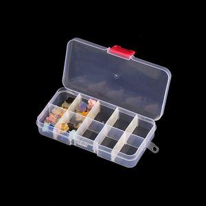 Nuevo en la tienda: Joyería Acabado Caja de almacenamiento Caja de clip Botón pequeño Polvo 10 Grid Pestañas Falsas Packaging Box Transparente Plástico PP BO