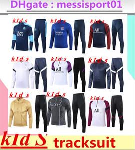 2020 2021 niños traje del chándal de entrenamiento de fútbol Griezmann Mbappé 2020/21 Verratti Fútbol entrenamiento del niño kit de