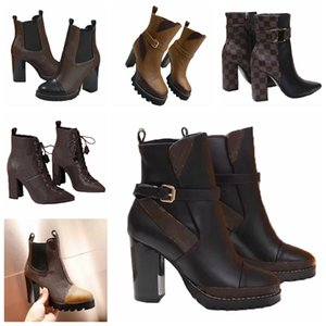 High heeled Martin Boot Winter Coarse heel woman shoes lady Boots 100% real leather High heel boots High heels 35-41 L240 03