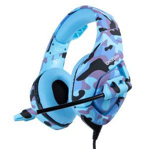 ONIKUMA K1 PS4 Gaming Kopfhörer Gaming Headset Wired PC Stereo-Ohrhörer Kopfhörer mit Mikrofon für Schalter Xbox One Laptop Tablet Gamer