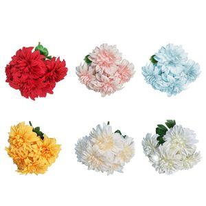 Artificial Chrysanthemum Double Head Dahlia Simulation Dahlia Fake Flower Colorful Fake Flower Wonderful Wedding DIY Decorations