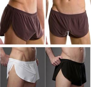 Лучшая цена Мужчины Мужчины белье комфортно сексуальный мужчина трусов U выпукло сумка шелк Sexy Body XXL размер underpant фабрика продажа