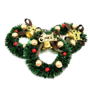 3PCS Dolls House Miniature CHRISTMAS House Xmas Decoration Wreath 1 12
