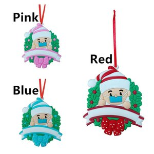 Маска для лица снеговика рождественской елки орнамент висит кулон украшения Xmas Персонализированные Карантин Survivor товары для вечеринок 3 цвета E102605