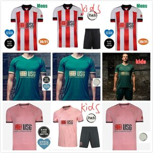 20 21 Sheffield Soccer Jerseys Berge Mousseset United 2020 2021 McBurnie Lundstram Fleck Hommes Kit Kit Chemise de football Norwood Sharp Jersey