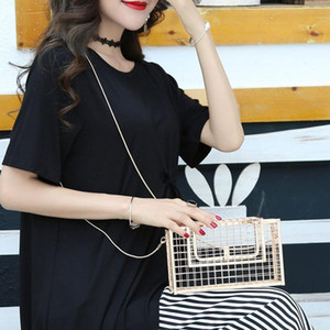 Women Elegant Chain Crossbody Shoulder Bag Metal Hollow Clutch Messenger Hand Bags Evening Clutches Ladies Chains Bag Handbag