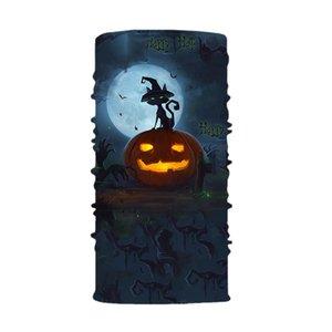 Halloween Magic Turban Bandanas Kürbis Gesichtsmasken Skeleton Outdoor Sports Ghost Neck-Schals Stirnband Radfahren Gesichtsmaske Party Masken Ewe1224