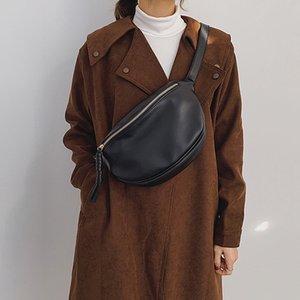 Fashion Women Waist Bag Fanny Pack Large Capacity Crossbody Chest Bags Banana Pack PU Leather Ladies Belt Bag Waist Pack 201014