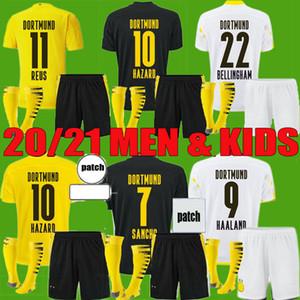 20 21 Borussia Haaland Reus Dortmund Soccer Jerseys 2020 2021 Haaland Bellingham Sancho Hummels Brandt Chemise de football Hommes Kit Kit Uniformes