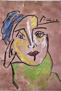 Pablo Picasso Ritratto decorazione domestica dipinta a mano HD Dipinti Stampa Olio Su Tela Wall Art Immagini per decorazione della parete 201114