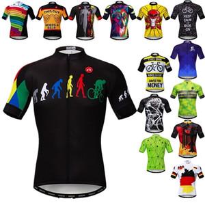 Weimostar Pro Takım Bisiklet Forması 2021 Erkekler Yaz Bisiklet Jersey Yarış Spor MTB Bisiklet Jersey Nefes Bisiklet Gömlek Maillot Q1222