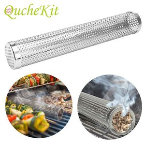 15   30cm particulate smoking pipe network pipe circular filter barbecue oven outdoor barbecue BBQ tool accessories