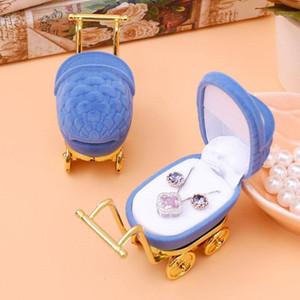 DoreenBeads Jewelry Cajas de regalo Pantalla de embalaje de regalo Velvet de plástico Bebé Carro con forma de color azul oscuro al por mayor 8.6x3.4cm 1 pieza1