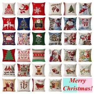 Weihnachtskissenbezüge karierten Wurfkissenbezug Luxus Sofa Kissenbezug Rot Dekorative Kissen Fall Home Decor 45 * 45 cm yfa2626