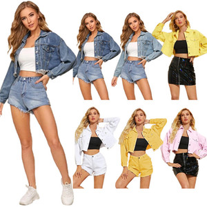 2020 New Jean Jackets Casual New Arrival Womens Jacket Women Designer Winter Coats Fashion Single Breasted Loose Short