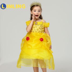 Linling Fashion Kids Summer Princess Dress Vestido Girls Performance Disfraces Niños Cumpleaños Vestido Vestido Escuela Casual Ropa P70 LJ200923