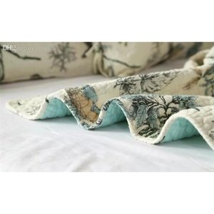 Wholesale-100% Cotton Quilt Bedspread Pastoral Bird And Flower Bed Quilt 3pc Set King Size Quilt Cover Set Home Tex jlllLl sport77777