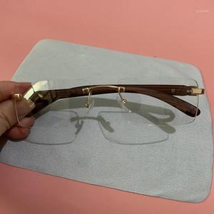 Evove Çerçevesiz Gözlük Çerçeveleri Erkek Altın Gözlük Erkek Kadın Moda Gözlük Gözlük Okuma / Miyopi Lens Ultralight1