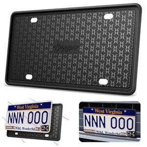 Silicone License Plate Frame scratch-resistant rust-proof Car cover Cadre de plaque d'immatriculation en holder Q1107