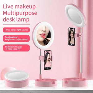 Selfie Monopods G3 Dobrável LED Anel Light Secretária Live Streaming Video Chating Pogador Luzes 64 Lâmpada para telefones