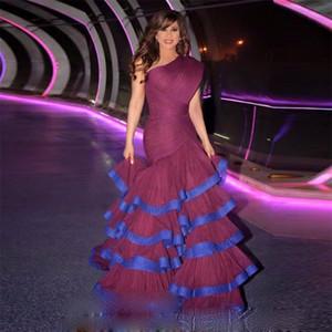 2021 One Shoulder Long Evening Gowns Mermaid Long Gown Abendkleider Vestidos De Fiesta Robe De Soiree Prom Dresses
