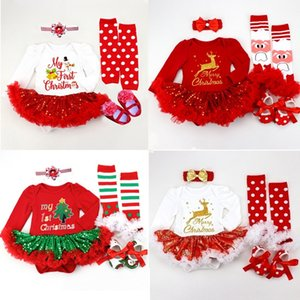 long sleeve newborn lace romper girl baby suit christmas costumes for babies and toddlers 4pcs 3pcs 2pcs set