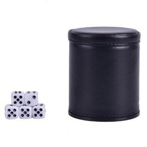 Commerce 2020 Étranger PU en cuir PU flanelle Mute Dice Coupe Bar Game Fournitures de jeu