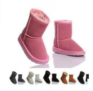 2020 Novo real Austrália de alta qualidade 5281 crianças meninos meninas crianças botas de neve do bebê quentes Estudantes adolescentes da neve do inverno botas XMAS GIFT G88
