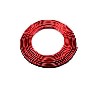 Наклейка для украшения интерьера автомобиля 5m / 124; Ремень для украшения транспортных средств, экологически устойчивый линейный стикер PVC, красные электроплати