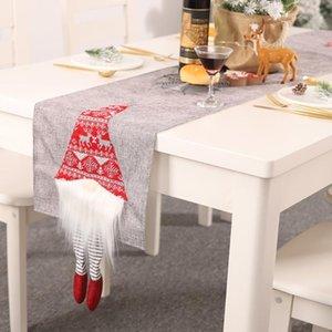 Рождественские украшения XMS стол бегун дома декоративный ковер санта-Клаус бегунов на 180 * 33см1