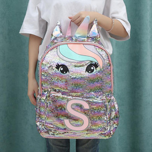 Unicorn Sequins Childrens Backpack Kids School Bags for Teenage Girls Backpack Cartoon Cute Backpacks Large Mochila Infantil