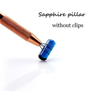 High quality material sapphire Pillar Like a capsule With 6mm OD Suitfor Terp Slurper Quartz Banger Nails Glass Bongs