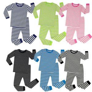 Ano Novo Christmas Kids Pijamas Tracksuit Define Crianças Duas Peças Outfits Meninos Meninas Listrado Xmas Roupas Suits Bebê Homewear Sets E92801