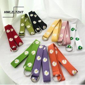 HWLZLTZHT japonês Harajuku Mulheres Cintos cor doce Imprimir cintura ajustável Belt simples cor sólida Moda Belt Feminino
