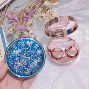 Constellation Quicksand Contact lens case temperament noble contact lens case travel glasses case as gift glasses Box