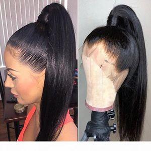 Transparente Spitze Perücken gerade 360 Spitze Frontal Perücke Brasilianer 13x6 Spitze Front Front Human Hair Perücken Full HD Film Bob
