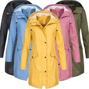 Raincoat Donne donne incappucciate impermeabile impermeabile antivento del cappotto di pioggia Windcoat Bike Giacche Plus Size pioggia poncho BB50YY 201015