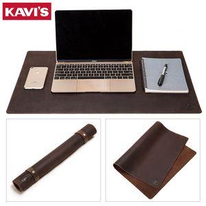 Kavis 2020 Inek Deri Deri Masası Mat Bilgisayar Mousepad Taşınabilir Ofis Koruma Mouse Pad Gamer Klavye Masa Kapak Dizüstü