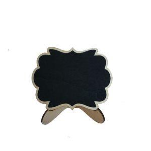Mini Blackboard 10 * 7.5 cm Ahşap Standı Kara Tahta 6 Tasarımlar Bulut Şekli Ahşap Mini Blackboard Düğün DükkanıWindow Öğeleri Ekran S 89 G2